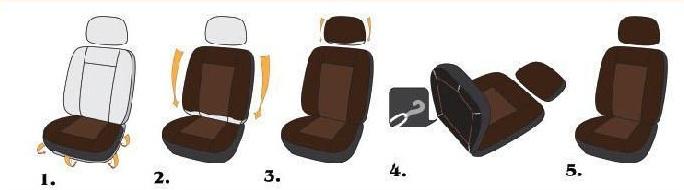 Установка чехлов на сиденья